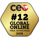 #12 Global Online MBA Rankings 2019